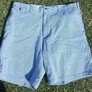 Nautica white blue pin stripe walking shorts Relax fit boat casual shorts 40W