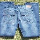 BERT EIGSLER & CO. straight leg jeans blue denim jean pants Men blue jean 38X32