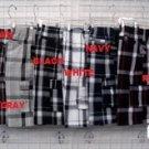 Black plaid cargo shorts Black stripe plaid cargo shorts S-XL CARGO SHORTS 613