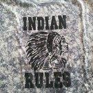 INDIAN RULES Vintage style short sleeve T-shirt Gray short sleeve Tie Dye Tee M