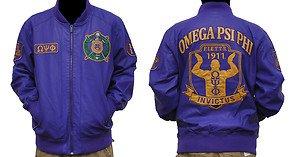 Omega Psi Phi Leather Fraternity Jacket Purple Omega Psi Phi Jacket Coat M-2X