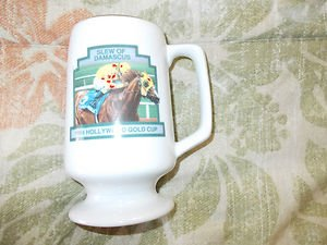Hollywood Park 1994 Hollywood Gold Cup Slew of Damascus Mug Glass souvenir cup