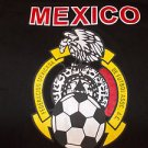Black White short sleeve Mexico Soccer T shirt Mexico De futbol T shirt S-M