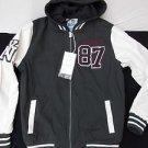 Gray White Varsity Jacket Holstark Vasity Collegiate Varsity Hoodie Hoody Coat