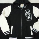 Black White Varsity Jacket Holstark Vasity Collegiate Varsity Hoodie Hoody Coat