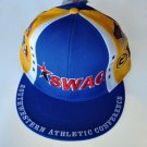 SWAC Southwest Athletic Conference blue gold baseball cap hat ADJUSTABLE FIT NWT