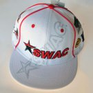 SWAC Southwest Athletic Conference white red baseball cap hat ADJUSTABLE FIT NWT