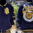 Mens North Carolina A&T University long sleeve jacket Letterman Coat S-4X Aggies