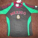Black White short sleeve Mexico Soccer Jersey Mexico City Soccer Jersey S-2X