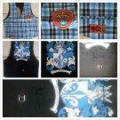 Aqua Black Sleeveless Dress Casual Vest Mens plaid design sleeveless Vest M-XL