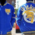 Mens Fort Valley University long sleeve jacket Letterman Coat S-4X Wildcats