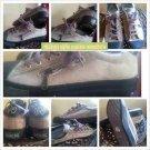 Mens Vintage style brown canvas sneaker shoe Tie up casual tennis shoe 7.5-12US