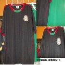 Mexico short sleeve soccer jersey Black Mexico Soccer Jersey  Soccer Jersey S-2X