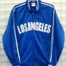 Los Angeles Track Jacket White Blue Long Sleeve Los Angeles track jacket XS-3XL