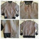 Brown plaid  long sleeve jacket Men's Tan Brown military style jacket coat S-M