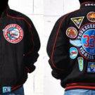 Mens Black long sleeve Tuskegee Airmen jacket M-5X Redtails Figther Piolet Coat