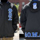 PHI BETA SIGMA BLACK COAT PHI BETA SIGMA Hoody Jacket  Coat M-5XL NEW