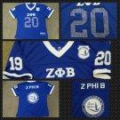 ZETA PHI BETA  short sleeve Football jersey Z-PHI-B Blue Football Jersey S-4X