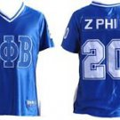 ZETA PHI BETA Blue short sleeve Football jersey Womens Sorority Football Jersey