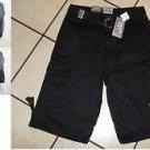 Black cargo shorts PRO CLUB Black Cargo shorts skater walking shorts W30-64