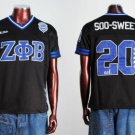 Zeta Phi Beta Short Sleeve Football Jersey Womens black Zeta Phi Beta top S-3XL