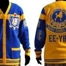 Sigma Gamma Rho Blue Gold Cardigan sweater Sigma Gamma Rho Sorority sweater S-4X