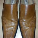 Rust Brown slip on dress shoe Miralto cognac brown slip on dress casual shoe 10