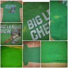 VINTAGE BIG LEAGUE CHEW GREEN SHORT SLEEVE T SHIRT Vintage 80's Tee L