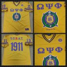 Omega Psi Phi Gold short sleeve football jersey Q-Dog Gold Football Jersey M-5X