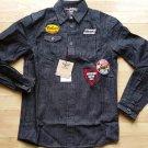 Parish Nation Long sleeve denim jean shirt Black Button up Denim jean shirt M-2X