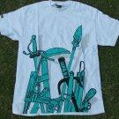 SCIFEN white green short sleeve skater T shirt Scifen Men's Skater T-shirt's M