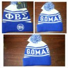 PHI BETA SIGMA BLUE WHITE BALL BEANIE CAP PHI BETA SIGMA  BEANIE HAT Beanie #4
