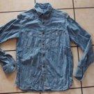 ANTIK DENIM Long sleeve jean shirt Men's blue button up denim jean shirt S