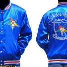 Order of the Eastern Star Blue Satin Jakcet OES Satin baseball Jacket S-3XL