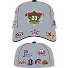 Negro League Baseball Cap Commemorative Gray Negro League Baseball Hat FITTED