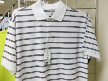 c7d8bdf34 White Black stripe polo shirt by Pro Club stripe short sleeve polo shirt S- 7X