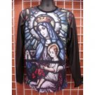 Virgin Mary long sleeve Sublimation T-SHIRT Baby Jesus sublimation T shirt M-2