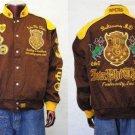 IOTA PHI THETA brown Long sleeve Jacket Coat IOTA PHI THETA RACE JACKET XL-5XL