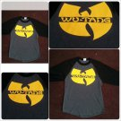Wu-Tang Clan Gray Black long sleeve T shirt Hip Hop baseball Raglan Tee S-XL