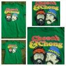 Vintage 80's short sleeve Tee CHEECH AND CHONG Green short sleeve T shirt