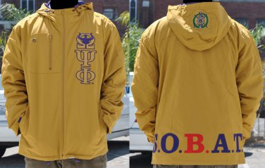 Omega Psi Phi Gold Coat Jacket Omega Psi Phi Gold Hoody Jacket 2xl New
