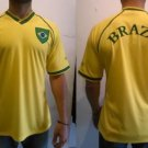 Mens Soccer Jersey Yellow Brazil Soccer Jersey Polyester Soccer Jersey S-2X #1