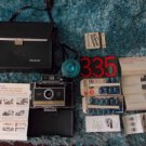 MODEL 335 Polaroid Artists Instant Land Camera and Carrying Case, manuals, bulbs