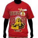 Masonic Freemason Nobel Shriner's short sleeve T-shirt Red Shriner Tee shirt