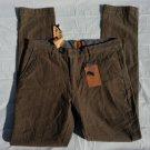 Beige Twill print slim fit casual dress Pants Brown Straight leg pants 34WX32L