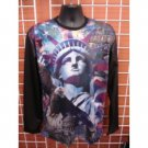 Statue of liberty long sleeve Sublimation T-SHIRT NYC sublimation T shirt M-2