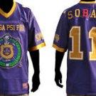 Omega Psi Phi Purple Gold short sleeve football jersey  Q-Dog jersey M-5X NWT