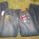 COOGI blue denim jean pants COOGI Great Britain blue denim jean pants 32-36W NWT