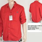 Red long sleeve button up shirt Mens Military style long sleeve shirt L-3X