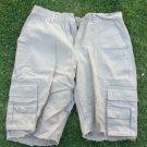 Mens tan cargo shorts Khaki tan cargo shorts Casual walking shorts 34W